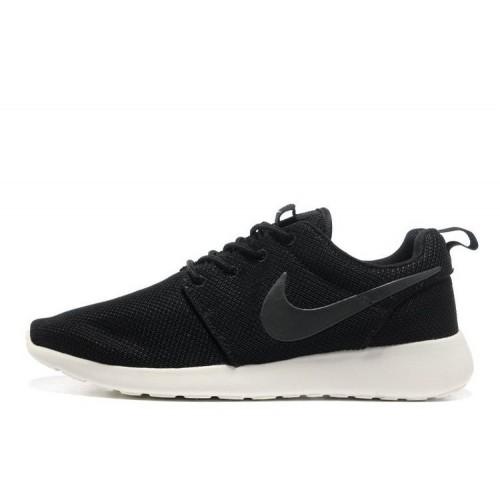 Nike Roshe Run Black White мужские кроссовки