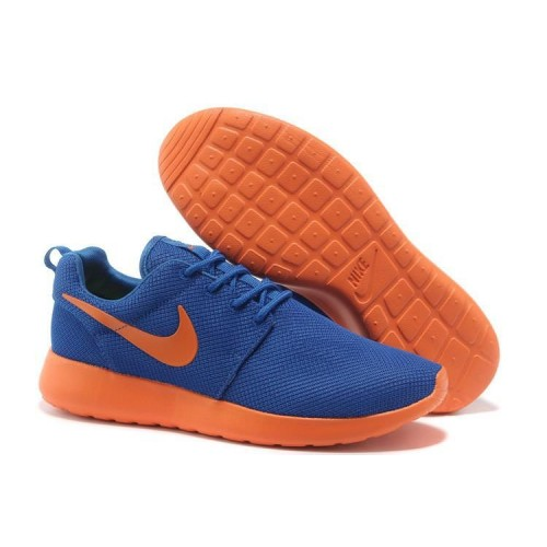 Nike Roshe Run Blue Orange мужские кроссовки