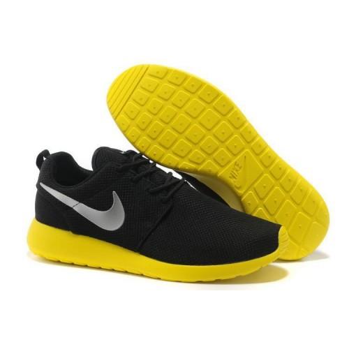 Nike Roshe Run Black Yellow мужские кроссовки