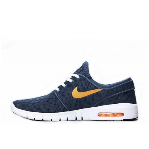 Nike SB Stefan Janoski Max Blue Orange мужские кроссовки