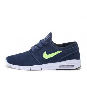 Nike SB Stefan Janoski Max Navy Blue Green Suede