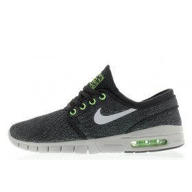 Nike SB Stefan Janoski Max BlackWolf Grey-Flash Lime