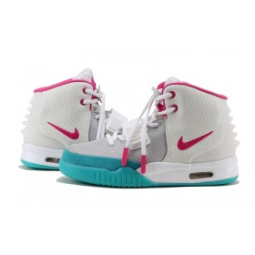 Nike Air Yeezy 2 White Pink женские кроссовки