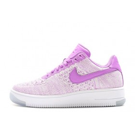 Nike Air Force 1 Low Flyknit Purple White женские кроссовки