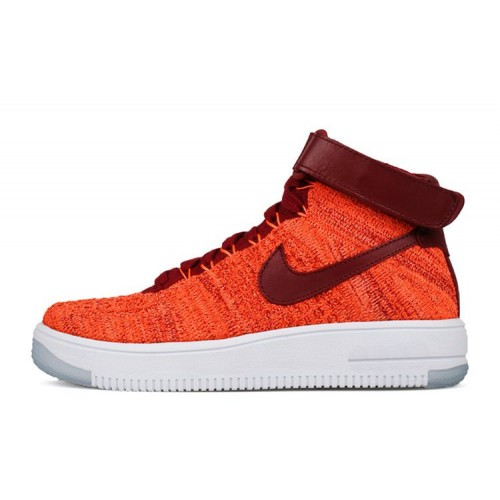 Кроссовки Nike Air Force 1 Ultra Flyknit-Red женские