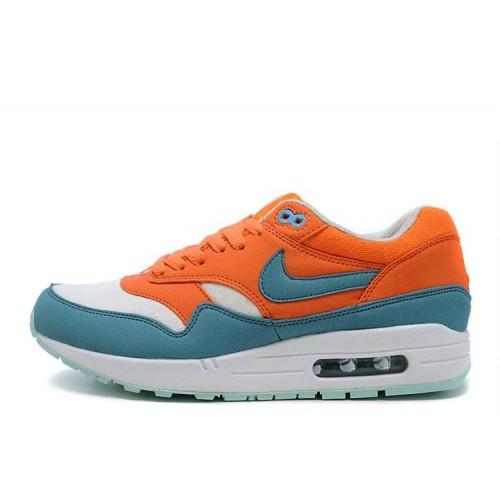 Nike Air Max 87 Green Orange женские АирМаксы