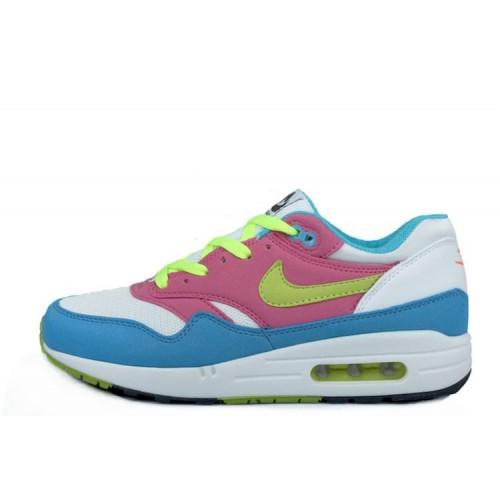 Nike Air Max 87 Pink Blue Green женские АирМаксы