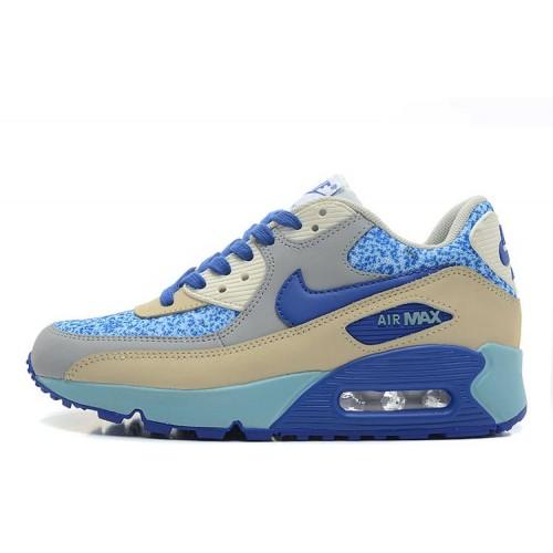 Nike Air Max 90 Blue White женские АирМаксы