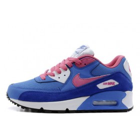 Nike Air Max 90 Dark Blue Pink White женские кроссовки