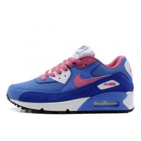 Nike Air Max 90 Dark Blue Pink White женские кроссовки