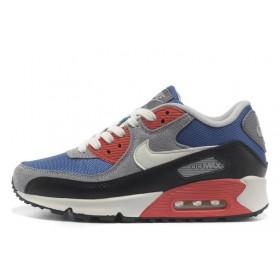 Nike Air Max 90 Red Blue Grey женские кроссовки
