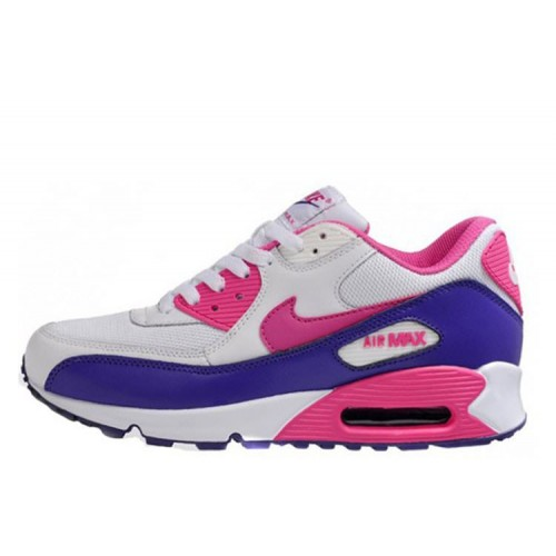 Nike Air Max 90 Pink Purple женские кроссовки