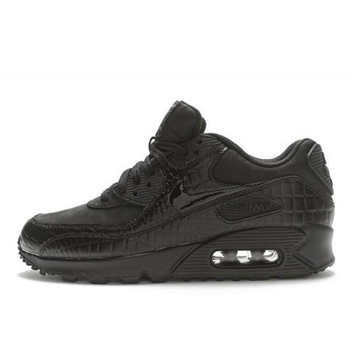 Nike Air Max 90 Premium Black Croc женские кроссовки