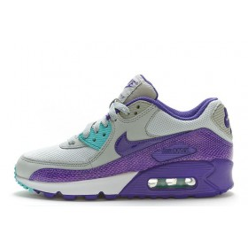 Nike Air Max 90 Premium Black Purple Grey женские кроссовки