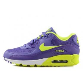 Nike Air Max 90 Premium Purple Lime женские кроссовки