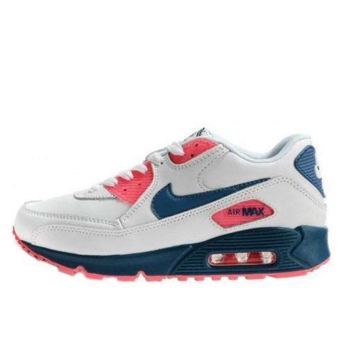 Nike Air Max 90 White Blue женские АирМаксы