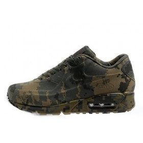 Nike Air Max 90 VT Сamouflage Brown Grey Green женские кроссовки
