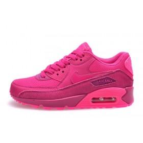 Nike Air Max 90 Premium Fireberry Pink женские кроссовки