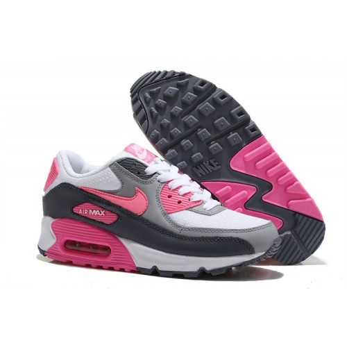 Nike Air Max 90 White Pink Grey женские кроссовки