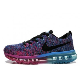 Nike Flyknit Air Max Court Purple Cool Blue Pink Black женские кроссовки