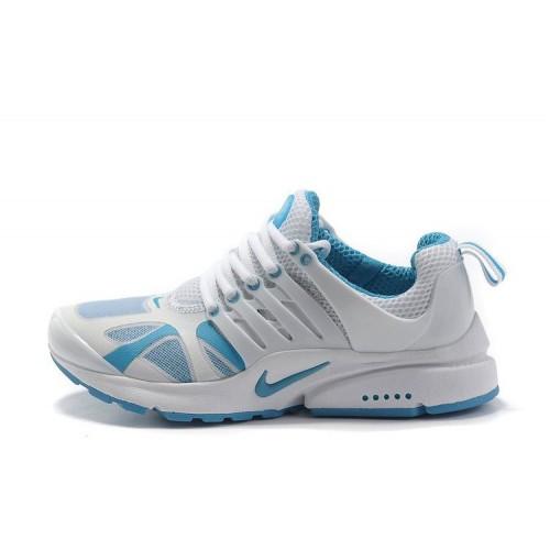 Nike Air Presto White Blue женские кроссовки для бега