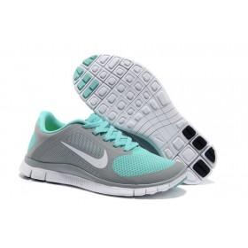 Nike Free Run 4.0 Grey Blue женские кроссовки для бега