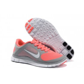 Nike Free Run 4.0 Grey Orange женские кроссовки для бега