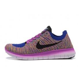 Nike Free Run Flyknit 5.0 Bleu Et Rouge женские кроссовки для бега