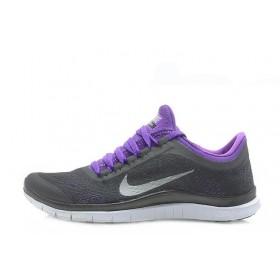 Nike Free Run 3.0 V5 Grey Purple женские кроссовки