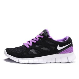 Nike Free Run Plus 2 Black Purple женские кроссовки для бега