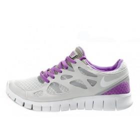 Nike Free Run Plus 2 Gray Purple женские кроссовки для бега