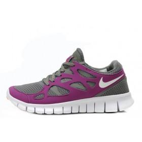 Nike Free Run Plus 2 Purple Gray женские кроссовки для бега