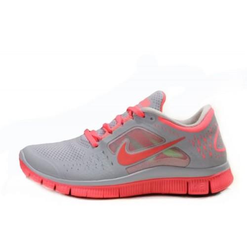 Nike Free Run Plus 3 Grey Orange женские кроссовки для бега