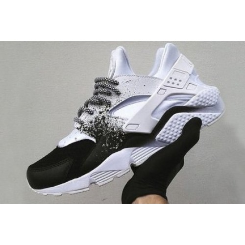 Nike Air Huarache Custom White Black женские кроссовки