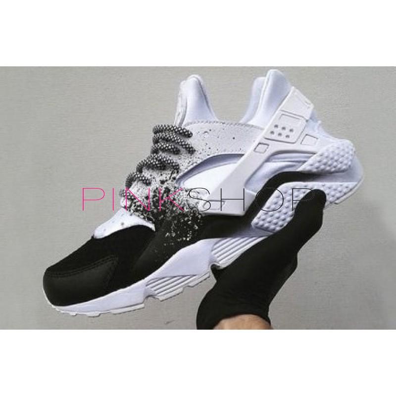 cc9a2e7d Nike Air Huarache Custom White Black купить женские кроссовки Nike в ...