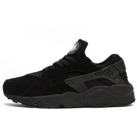Nike Huarache All Black Suede женские кроссовки