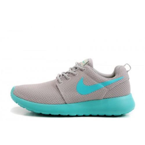 Nike Roshe Run II Lite Grey Lite Blue женские кроссовки