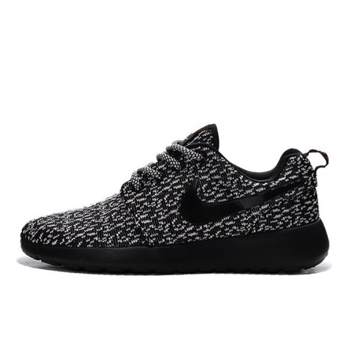 Nike Roshe Run Flyknit Turtle Black женские кроссовки