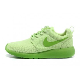 Nike Roshe Run Lime Green женские кроссовки