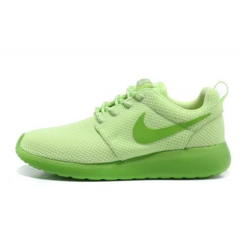 Nike Roshe Run Lime Green женские кроссовки