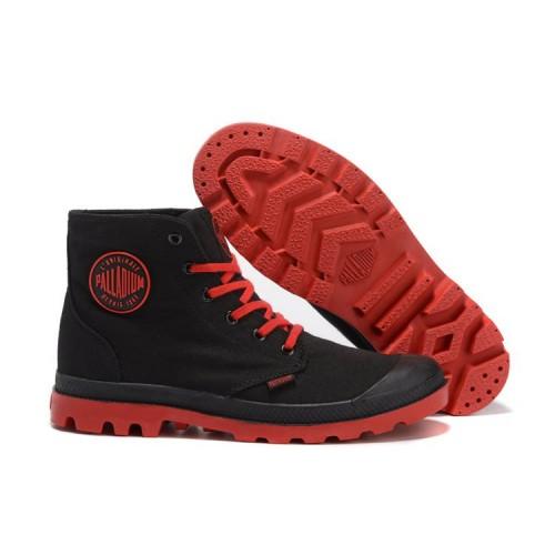 Palladium Pampa Hi Black Red мужские ботинки