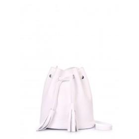 Кожаная сумка Pool Party Bucket White