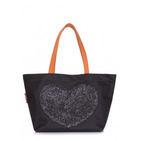 Cумка с глиттером Pool Party Lovetote Oxfrod Black