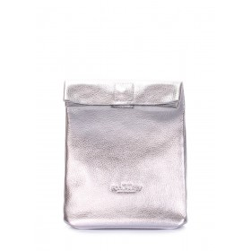 Кожаная сумка-клатч Pool Party Lunchbox Silver