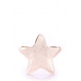 Кожаный клатч-косметичка Pool Party Star Gold