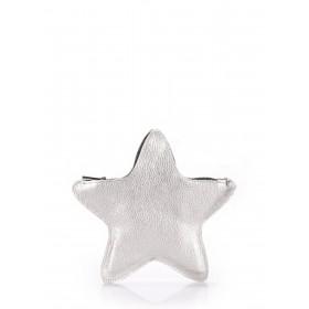 Кожаный клатч-косметичка Pool Party Star Silver