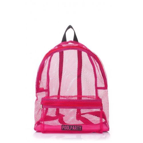 Рюкзак PoolParty Mesh Pink