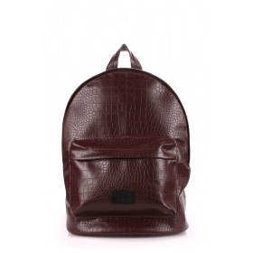 Рюкзак PoolParty Backpack Croco Brown