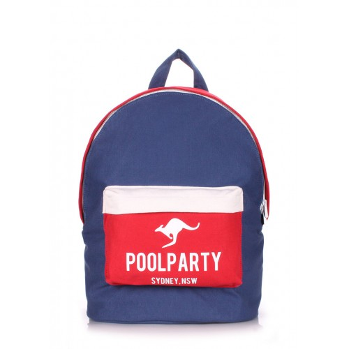 Рюкзак PoolParty Backpack Dark Blue Red White