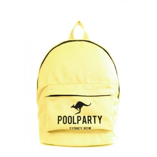 Рюкзак молодежный PoolParty Kangaroo Yellow